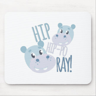Hip Hip-po Ray Mouse Pad