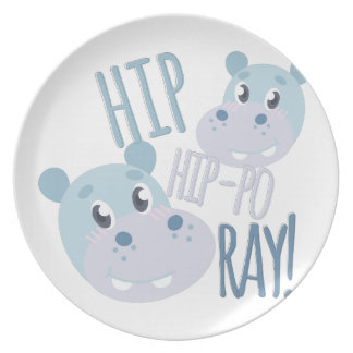 Hip Hip-po Ray Party Plates
