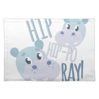 Hip Hip-po Ray Place Mat