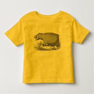 Hip Hippo Shirt, Toddler gift, Cool clothes Toddler T-shirt