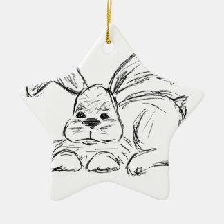 Hip Hop, A Bunny Rabbit Ceramic Ornament