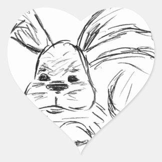 Hip Hop, A Bunny Rabbit Heart Sticker