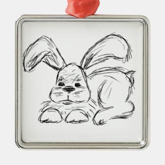 Hip Hop, A Bunny Rabbit Metal Ornament