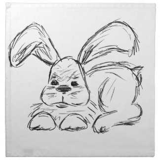 Hip Hop, A Bunny Rabbit Napkin