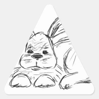 Hip Hop, A Bunny Rabbit Triangle Sticker