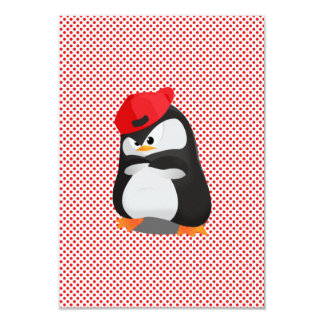 "Hip Hop Angry Penguin 3.5"" X 5"" Invitation Card"
