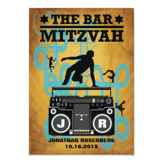 Hip Hop Bar Mitzvah Invitation