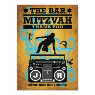 Hip Hop Bar Mitzvah Thank You Card