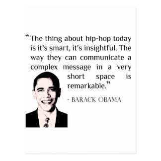 hip-hop Barack Obama quote postcard
