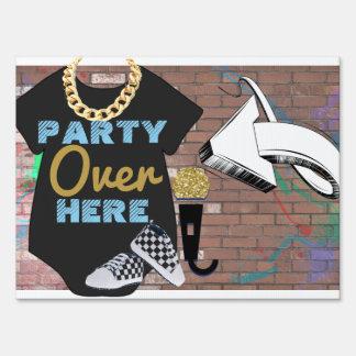 Hip Hop BOY Baby Shower Yard Sign