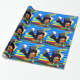 Hip Hop Break Dancing Kid Wrapping Paper