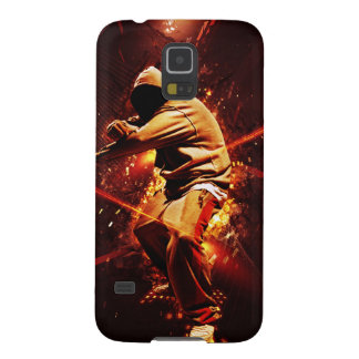 hip-hop breakdancer on fire galaxy s5 cover