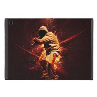 hip-hop breakdancer on fire iPad mini covers
