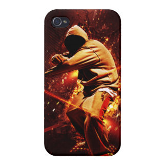 hip-hop breakdancer on fire covers for iPhone 4