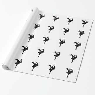 Hip hop breakdancer wrapping paper
