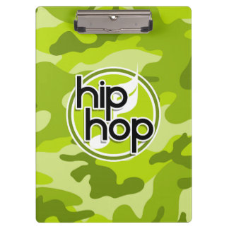 Hip Hop bright green camo camouflage Clipboard