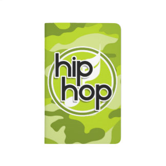 Hip Hop bright green camo camouflage Journal