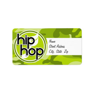 Hip Hop bright green camo camouflage Labels