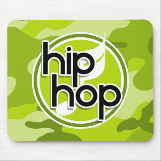 Hip Hop bright green camo camouflage Mouse Pads