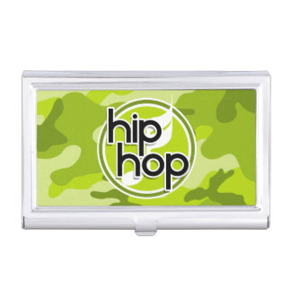 Hip Hop bright green camo camouflage Case For Business Cards