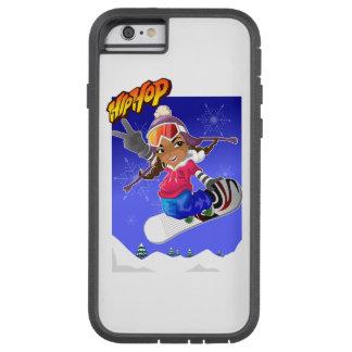 Hip Hop Cartoon Girl on Snowboard Tough Xtreme iPhone 6 Case