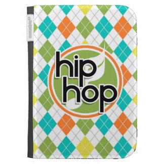 Hip Hop; Colorful Argyle Pattern Kindle Folio Case