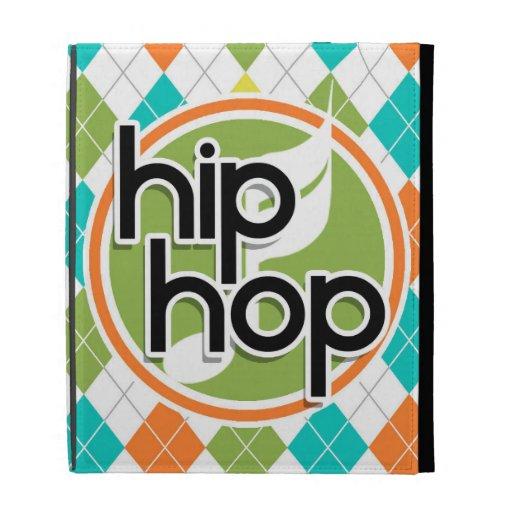 Hip Hop; Colorful Argyle Pattern iPad Cases