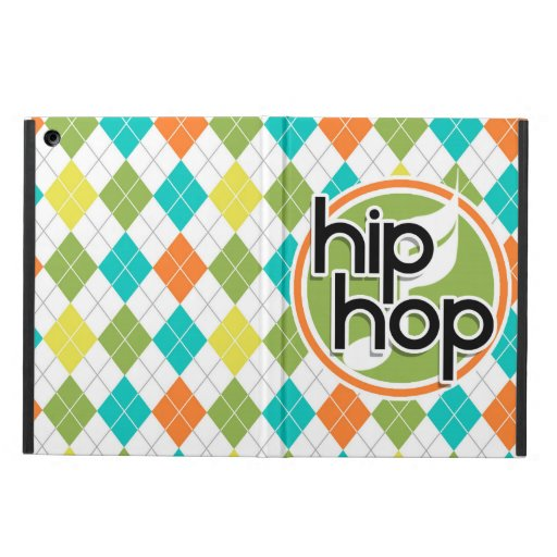 Hip Hop; Colorful Argyle Pattern Cover For iPad Air