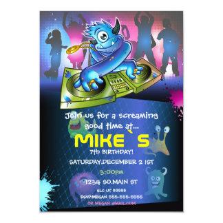 Hip Hop Cute Monsters Fun Party Invitation Design