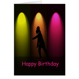 Hip Hop Dance Girl Custom Birthday Card
