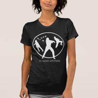 Hip Hop Dance Girls Ladies Black T-shirt