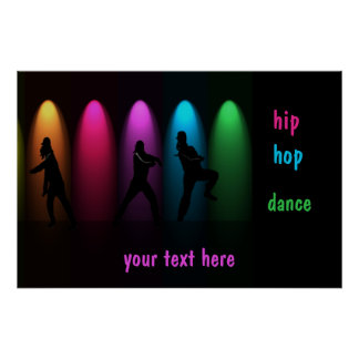 Hip Hop Dance Girls on Stage Poster Template