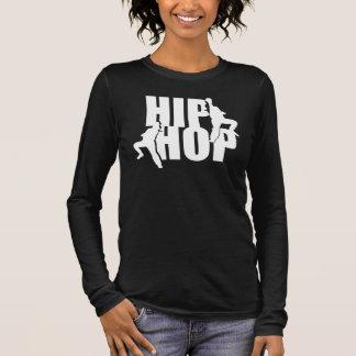 Hip Hop Dance Girls Text Design Black LS T-shirt