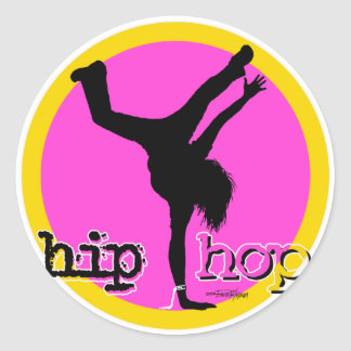 HIP HOP Dance moves Classic Round Sticker