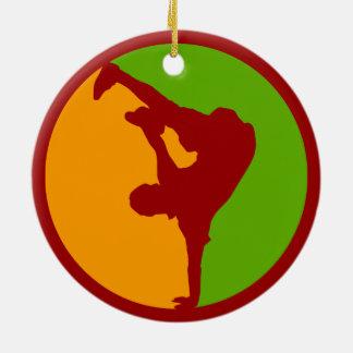 Hip Hop Dancer Ceramic Ornament