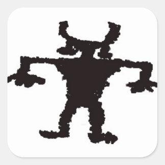 Hip hop dancer petroglyph square sticker