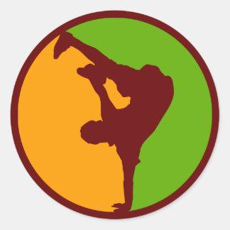Hip Hop Dancer Round Sticker