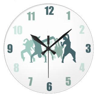 Hip Hop Dancers Illustration Clock