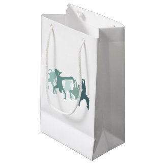 Hip Hop Dancers Illustration Small Gift Bag