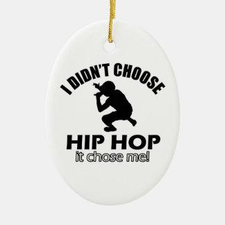 Hip Hop designs Ceramic Ornament
