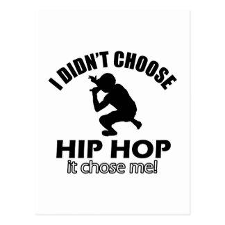 Hip Hop designs Postcard