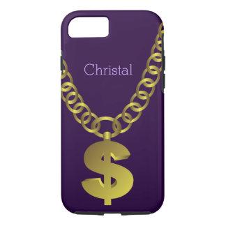 Hip Hop Dollar Sign Chain iPhone 7 Case