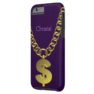 Hip Hop Dollar Sign Chain Tough iPhone 6 Case