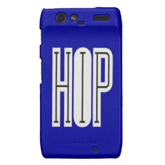 Hip Hop - Droid Razor Case blue Motorola Droid RAZR Case