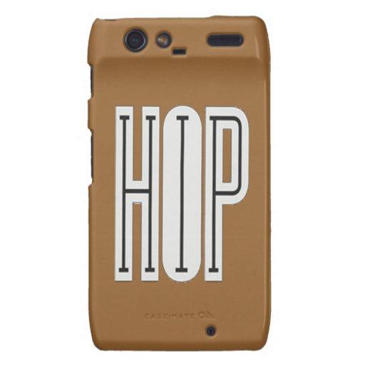Hip Hop - Droid Razor Case (brown) Motorola Droid RAZR Covers