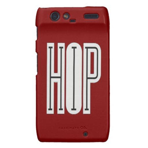 Hip Hop - Droid Razor Case (red) Droid RAZR Case