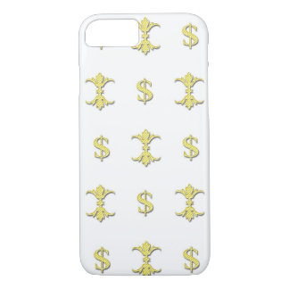 Hip Hop Gold Dollar Bling Royal iPhone 8/7 Case
