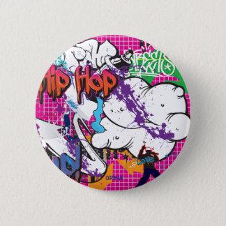 Hip Hop Graffiti 2 Inch Round Button