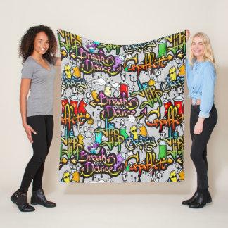 Hip Hop Graffiti fleece blankets