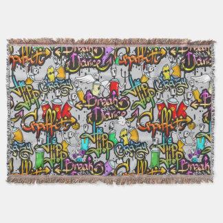 Hip Hop Graffiti throw blanket